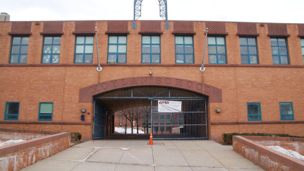 The Hartford, Conn., school district slated the Moylan School for redesign last year. (Jeff Cohen for NPR)