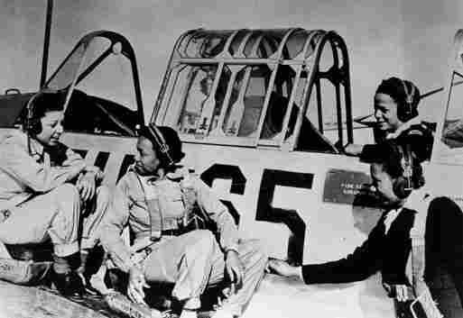Black women in the United States Army Nurse Corps  were assigned to Tuskegee Army Air Field Hospital to assist  pilots and cadets with physical and psychological problems. Part of  their training included ground school instruction, but they never flew  during World War II. Circa 1943.