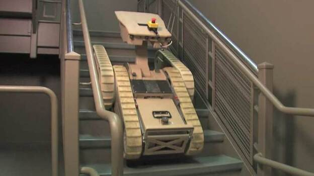 Many of the sensors and cameras at the nuclear power plant were disabled by explosions, so plant operators are turning to highly maneuverable robots to get a better idea of what's going on in areas where it's far too radioactive for workers to venture. (iRobot)