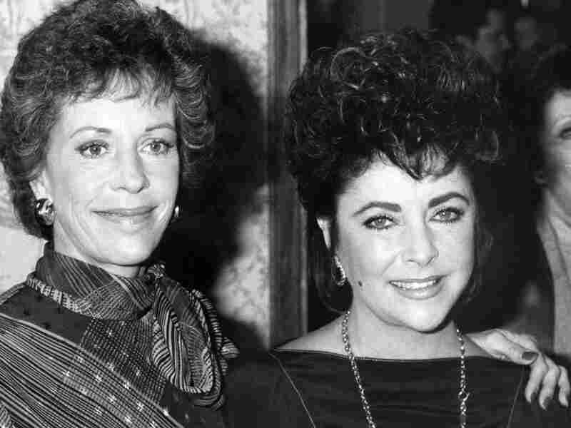 Carol Burnett  (left) and Elizabeth Taylor, shown together in 1983.