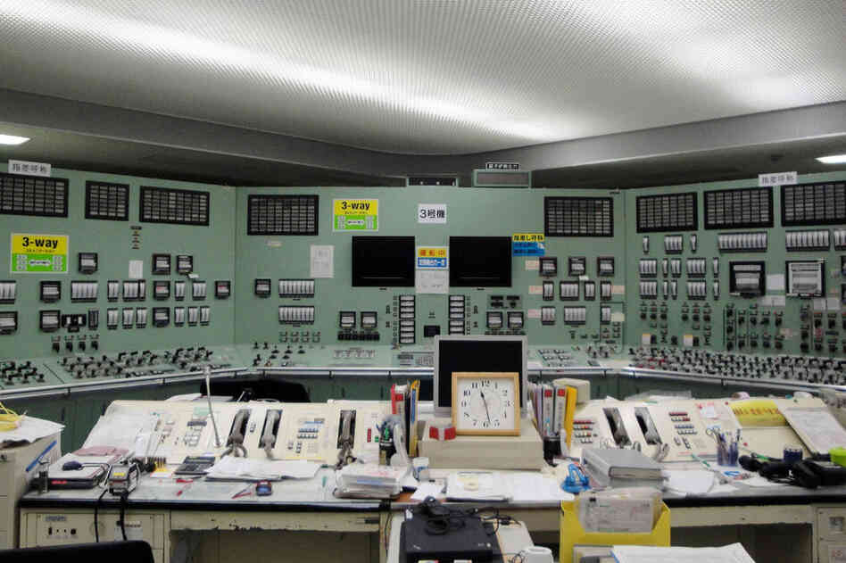A photo released by Tokyo Electric Power Co. (TEPCO) shows the central control room of its Fukushima No.1 nuclear power plant at Okuma in Fukushima prefecture, after the lighting was recovered on Mar. 22.