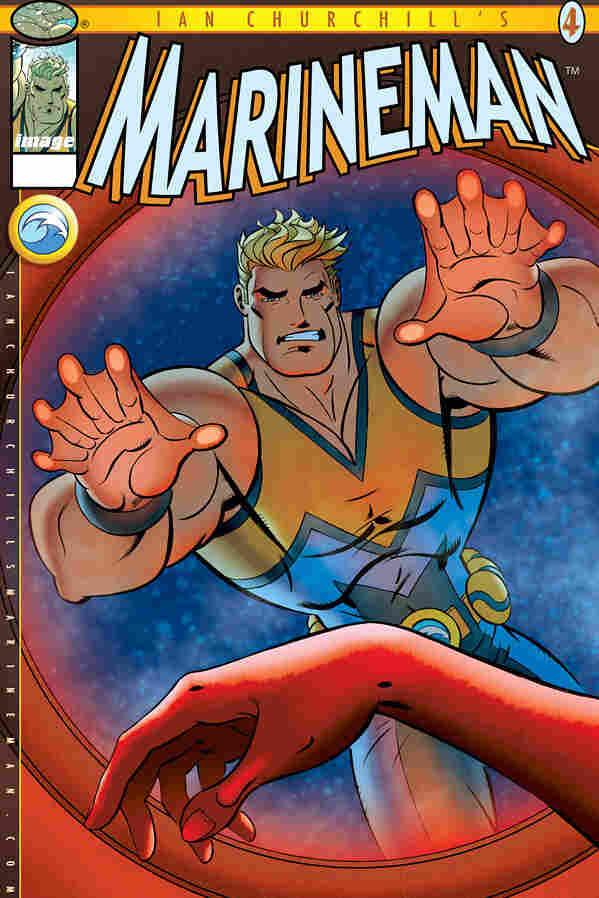 On the cover of Marineman #4 (in comics shops today) our unshellfish hero faces a difficult choice.