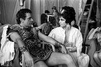In costume as Marc Antony and Cleopatra, Richard Burton and Taylor take a break on the set of Cleopatra. They would marry not once, but twice. See more photos of Burton and Taylor.