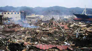 The devastation in Ofunato, Japan, after the tsunami roared through.