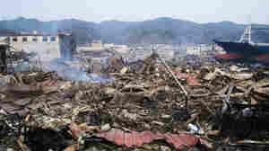 The devastation in Ofunato, Japan, after the tsunami roared through.