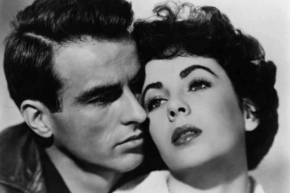 Montgomery Clift and Taylor star in the melodrama A Place In The Sun.