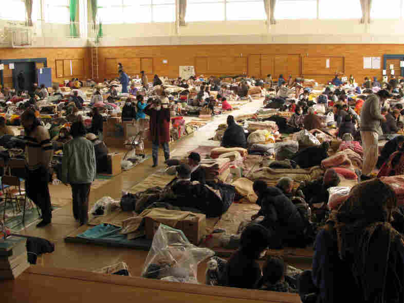 This evacuation center in Kesennuma, Miyagi prefecture, houses survivors of the March 11 earthquake and tsunami. Japan's large elderly population is especially vulnerable in the disasters themselves as well as in the aftermath.