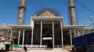 Construction at the main entrance for the Askariya shrine in Samarra, Iraq.