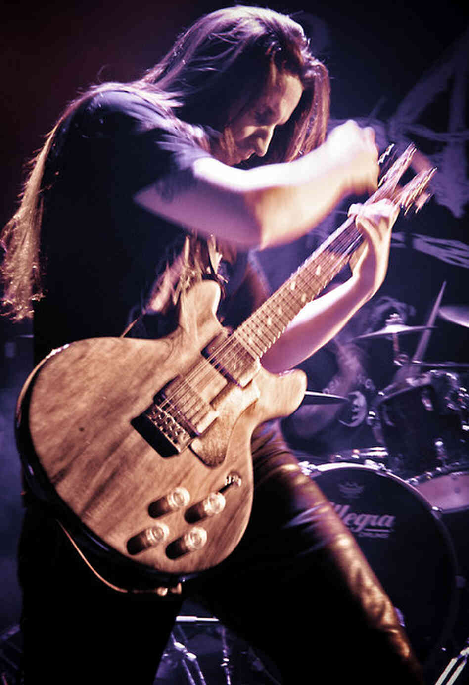 Agalloch performing live at Le Poisson Rouge in New York City, March 22, 2011.