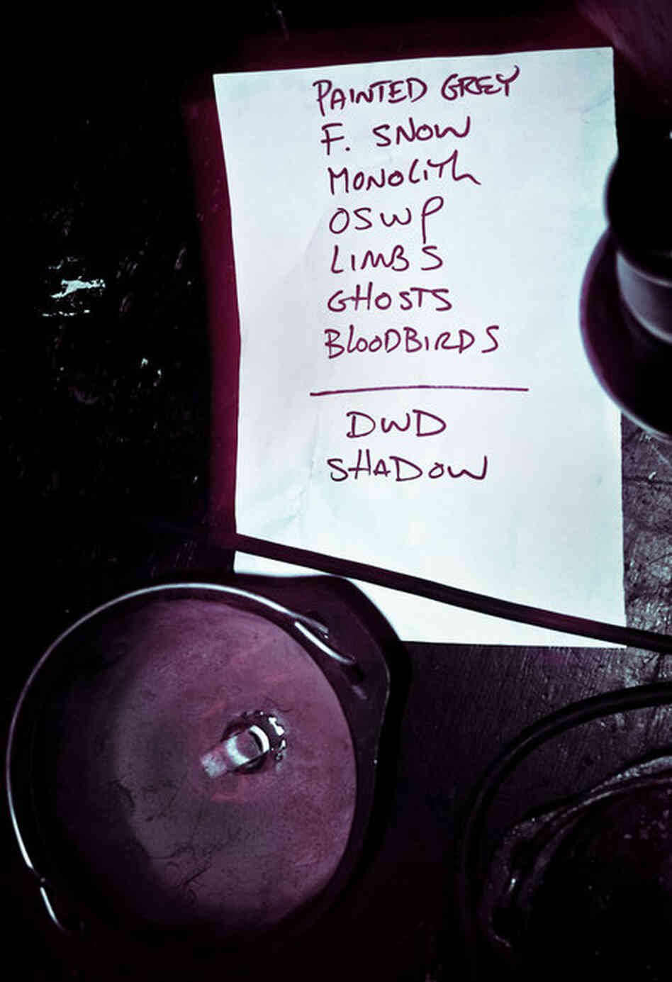 Agalloch's set list.