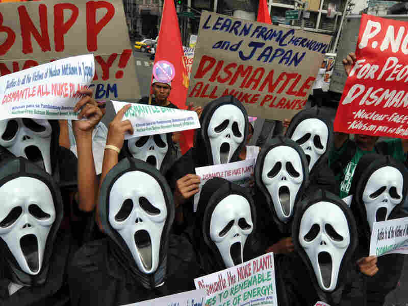 Anti-nuclear activists wearing masks holding a protest in Manila last week, as they rally against the revival of the Bataan nuclear power plant amidst the danger of a nuclear meltdown in Japan. Since the Fukushima nuclear power plant has started experiencing problems, many have been more worried about the use of nuclear power.