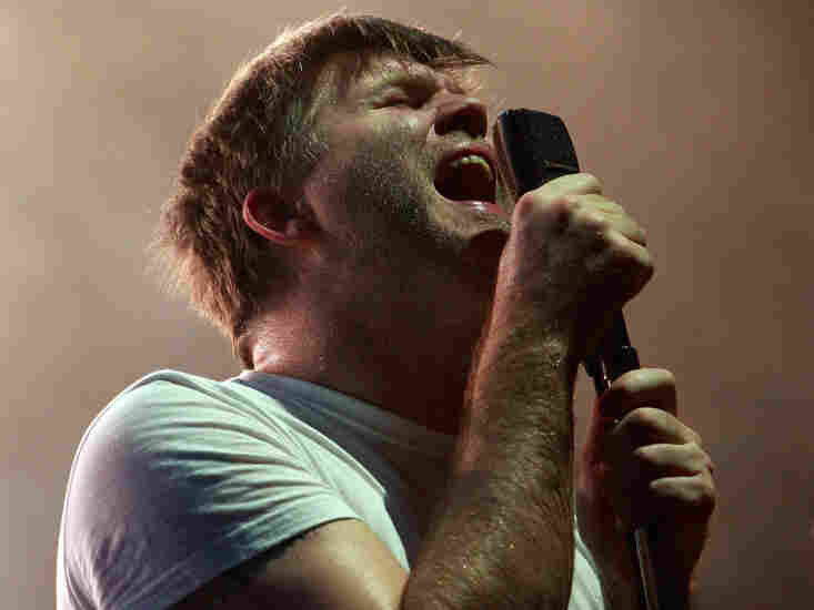 James Murphy of LCD Soundsystem performs on stage during the Pentaport Rock Festival at Dream Park on July 24, 2010 in Incheon, South Korea.