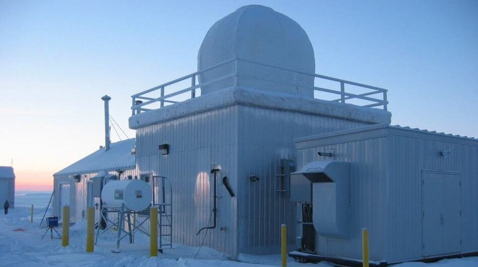 This measuring station, located in the far northern Canadian city of Resolute, is part of a network of sensors that the Comprehensive Test Ban Treaty Organization uses to detect radioactive particles in the environment.