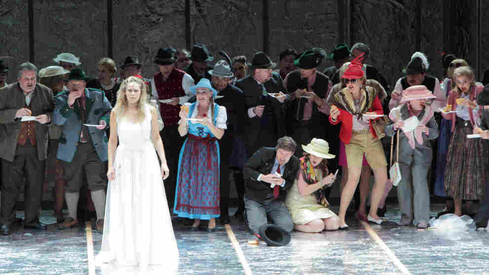 The prince wants to marry Rusalka in her human form, but no one in his court understands her strange silence.