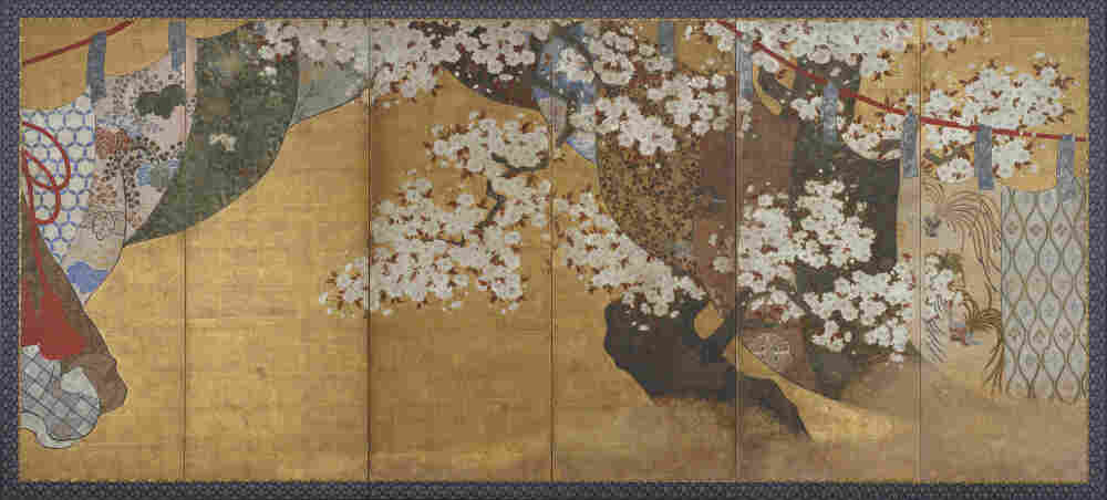 Wind-screen and cherry tree is one of the works on display in the Seasons: Arts of Japan exhibit at the Freer Gallery of Art in Washington, D.C.