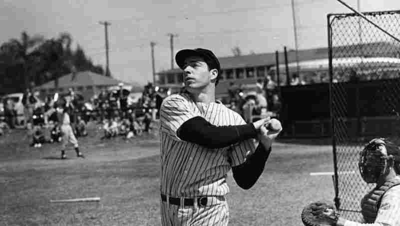 """In a new biography of Joe DiMaggio, author Jerome Charyn writes that """"there was a kind of heartbreak, as we worried that he might disappear  in that enormous expanse of space ... that the leaping gazelle we saw  was some aberration, a phantom put there by our own wish to create some  creature more perfect than ourselves. No fellow human being could  possibly look that good, but DiMaggio did."""""""