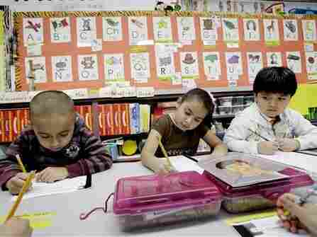 Kindergarten students in Mesquite, Texas, February 2011.