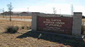 The 372-bed Bill Clayton Detention Center is a medium-security prison that is currently sitting empty in Littlefield, Texas.