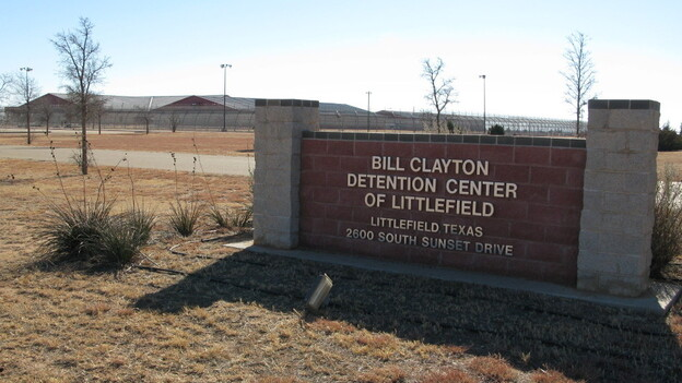 The 372-bed Bill Clayton Detention Center is a medium-security prison that is currently sitting empty in Littlefield, Texas. (NPR)