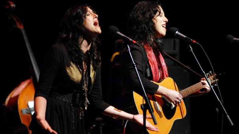 Watson Twins performed on Mountain Stage.