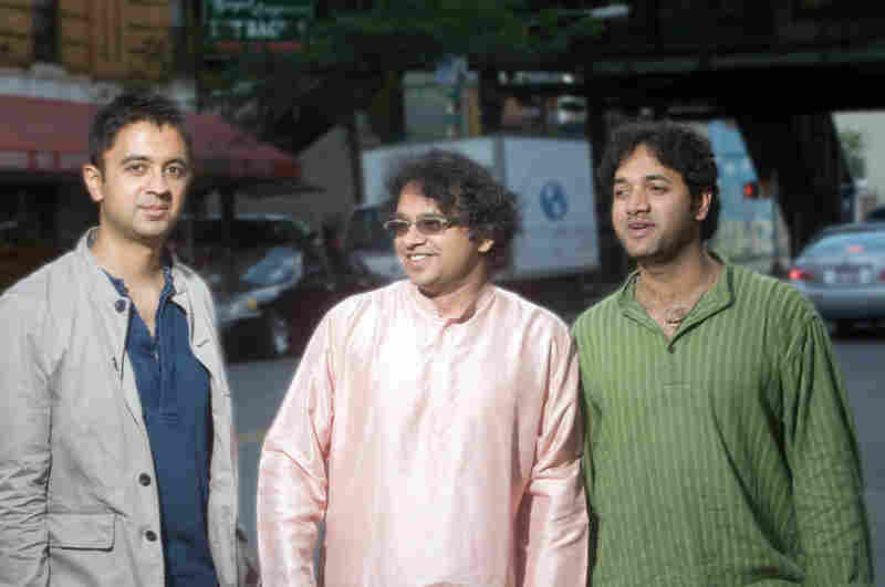 L-R: Vijay Iyer, Prasanna, Nittin Mitta.
