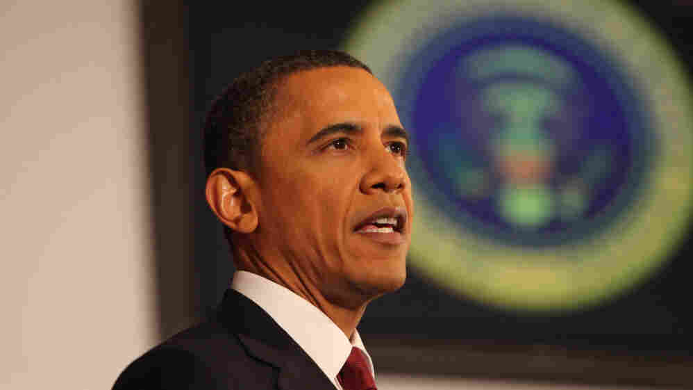 President Obama pointed to humanitarian and moral reasons to justify U.S. military action in Libya.