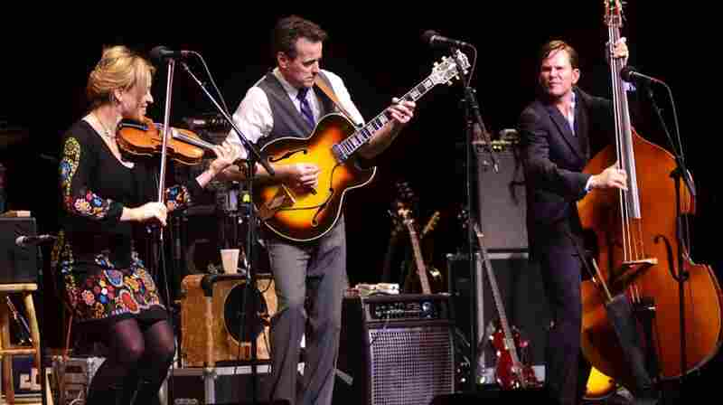 Hot Club of Cowtown performed on Mountain Stage.