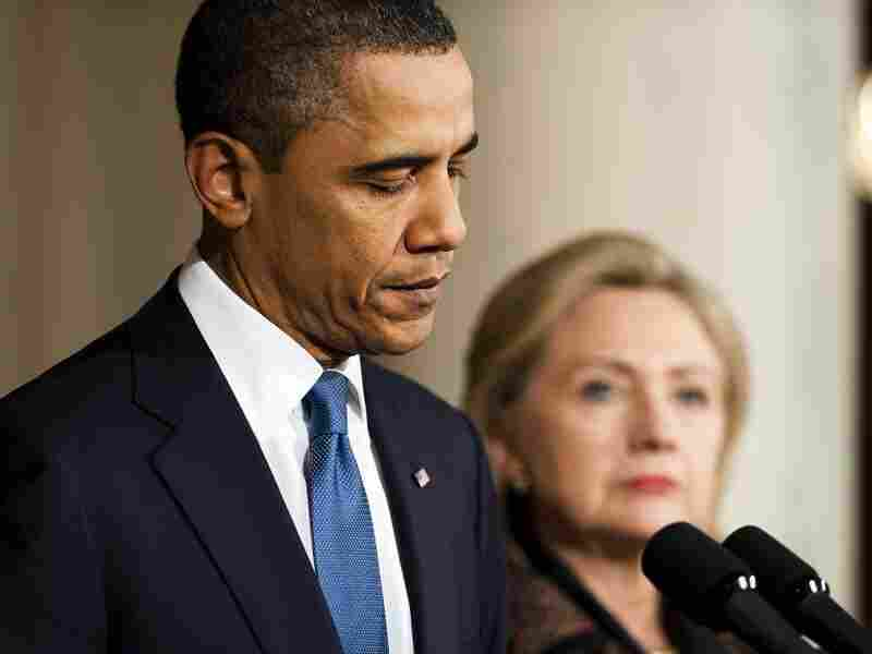 President Barack Obama making a statement on Libya with Secretary of State Hillary Clinton at the White House in February. Since then, further foreign policy developments — and military intervention — have caused some to look for an emerging Obama doctrine.