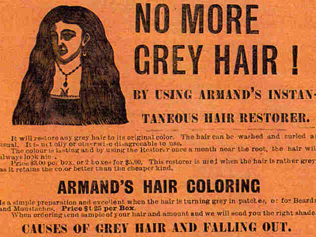 An ad from 1898 promises a fountain of youth for your hair.