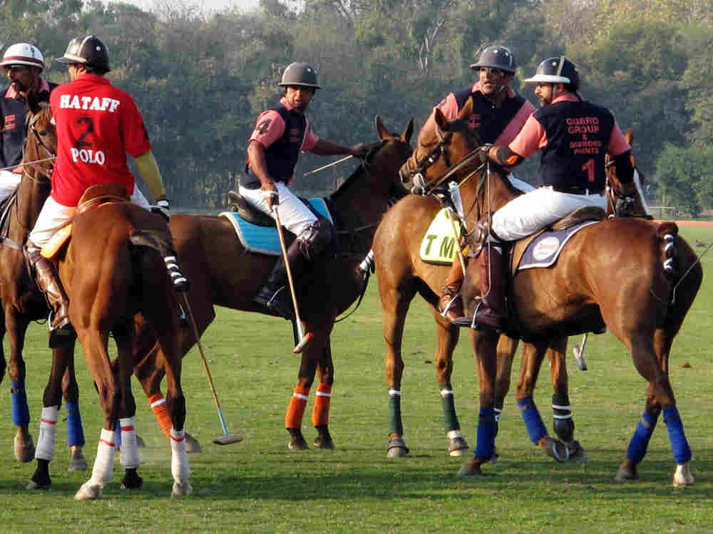 Players at the Polo Grounds of Lahore. The National Polo Championship culminates their season and caps the unofficial start of spring.