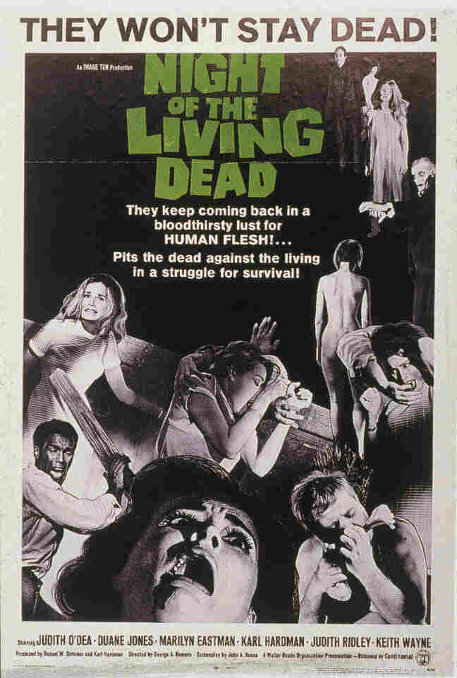 The ghouls in the 1968 zombie film Night of the Living Dead were a byproduct of radioactive contamination.