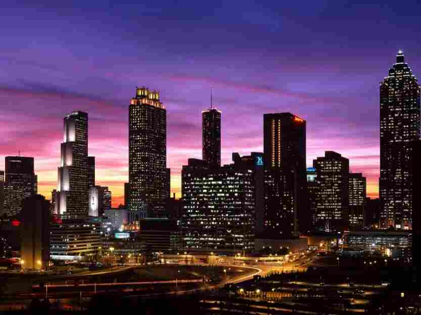 The downtown Atlanta skyline at dusk — one of many facets of the city I love.