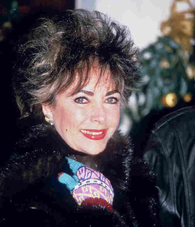 Elizabeth Taylor on Dec. 26, 1984, in Gstaad, Switzerland.
