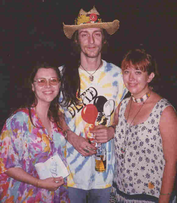 """1996. So this is me, on the right; my best friend, Amanda, on the left; and Chris Robinson of my absolute FAVORITE band EVER: The Black Crowes!!!"""