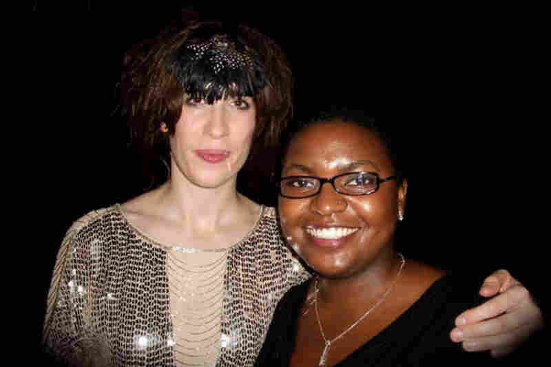 """Imogen Heap at the Fillmore in Miami Beach, Jun. 2, 2010. A group of 30 people and I waited outside the venue for about three hours. She was incredibly gracious and good-natured, signing everyone's posters and taking pictures with each of us. LOVE HER!"""