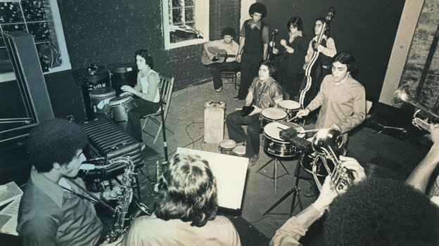 Chicago salsa band La Solucion performs in the '70s.