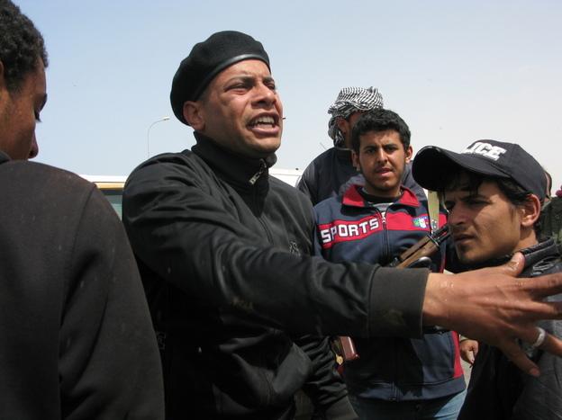 Ali Jamal bin Hassouna tells other fighters he feels betrayed by the rebel commanders.