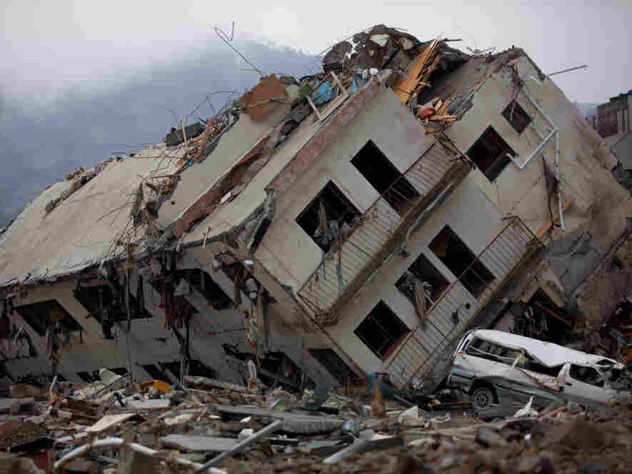 A destroyed building in Onagawa, Miyagi prefecture.