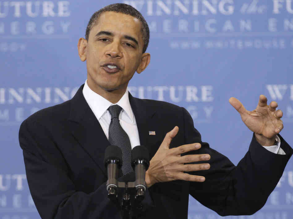 President Obama talks energy security, Wednesday, March 30, 2011, at Georgetown University.