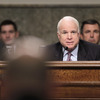 Senate Armed Services Committee Chairman Sen. Carl Levin (D-MI, left) and ranking member Sen. John McCain (R-AZ) listen to testimony Tuesday by Air Force Gen. C. Robert Kehler on the U.S. mission in Libya.