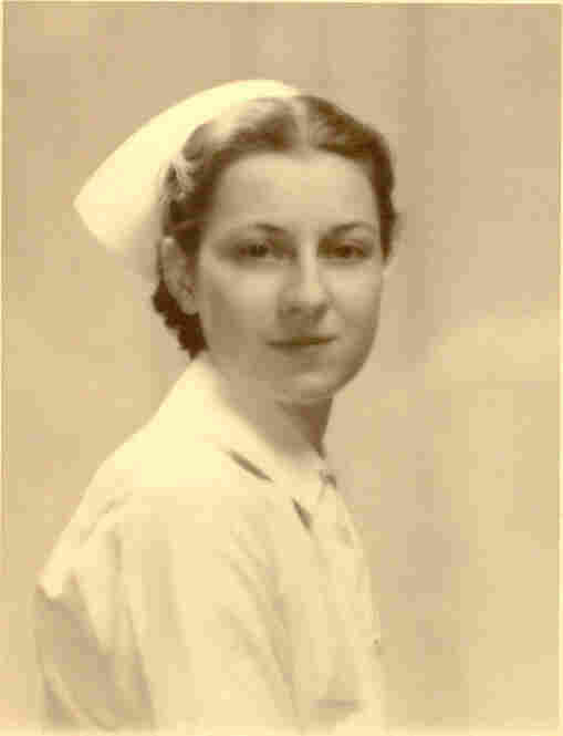 "RosaVictor writes: ""My mom in her nurse's uniform, circa 1938. She trained Army nurses during World War II, and was head nurse in the operating room at Fitkin Hospital in Neptune, N.J., when the survivors of the Hindenburg arrived from Lakehurst."""