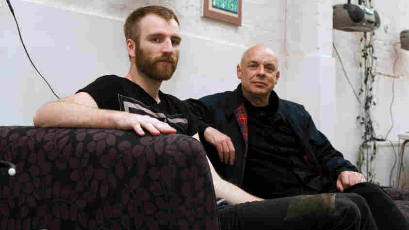 Brian Eno (right) and his protege, composer Ben Frost, are featured at this year's Unsound Festival in New York City.