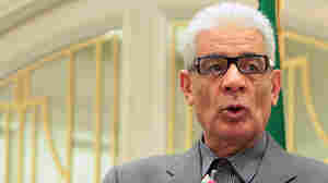 Libyan Foreign Minister Moussa Koussa speaks during a press conference in Tripoli on March 19.  Koussa arrived in Britain on March 30, and told the British government that he was resigning from his post.