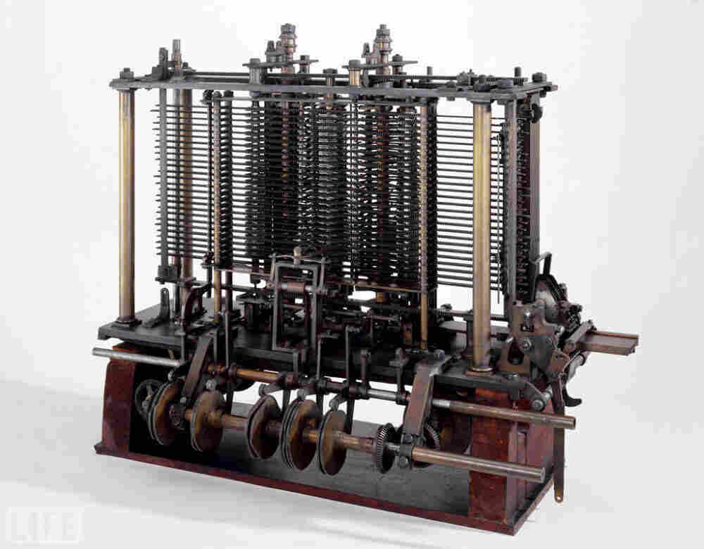 "This ""Analytical Engine"" was conceived by English mathematician Charles Babbage in 1837. It was version 2.0 of his ""Difference Engine,"" the first successful automatic calculator."