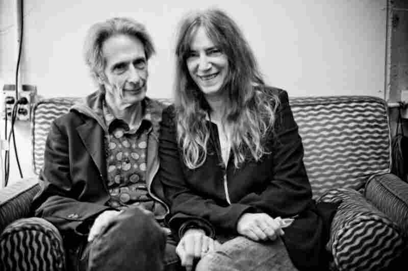 """Patti Smith With Lenny KayeCynthia writes: """"Congratulations to Patti, who recently won a National Book Award in the nonfiction category for her memoir, Just Kids. I had the great pleasure of photographing her with Lenny Kaye backstage at the Herbst Theatre in San Francisco this past October."""""""