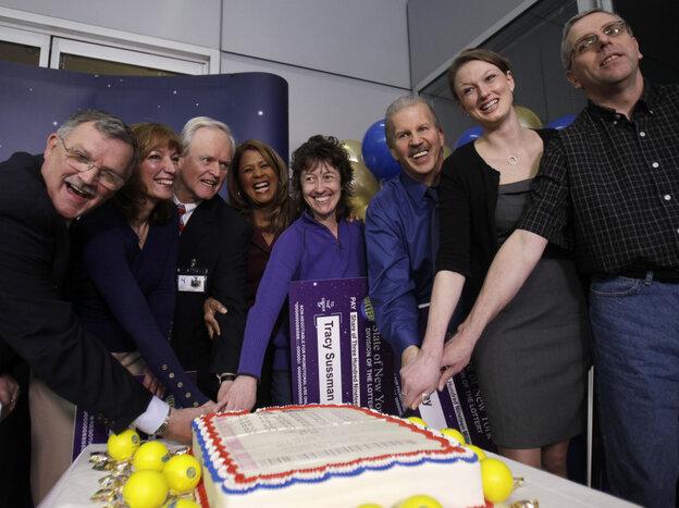 The winners (left to right): Leon Peck, Kristin Baldwin, Mike Barth, New Yo