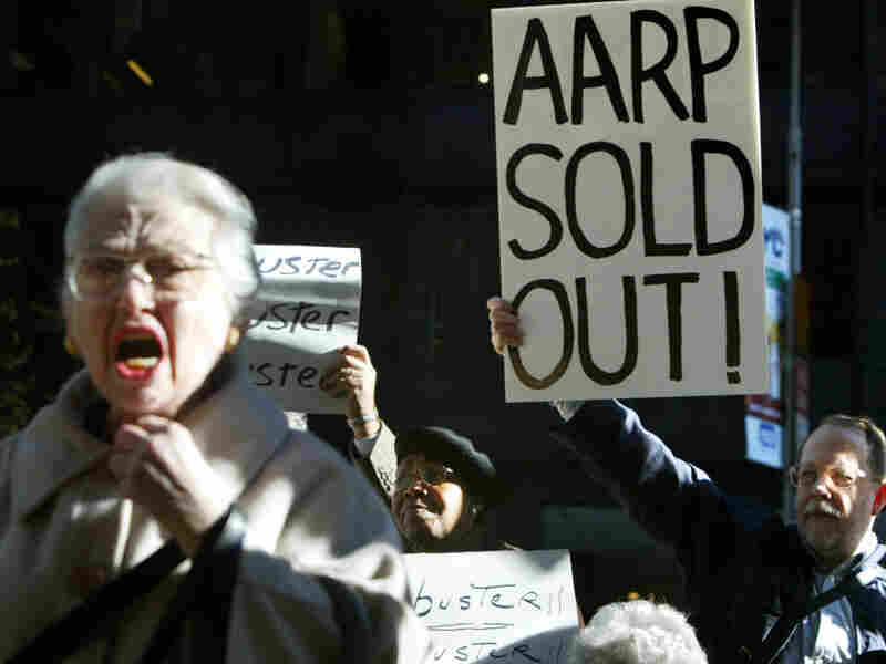 This isn't the first time AARP has come under fire. During the George W. Bush administration, Democrats were angry with AARP for its support of the president's Medicare drug plan. In 2003, senior citizens in New York City demonstrated against AARP's position.