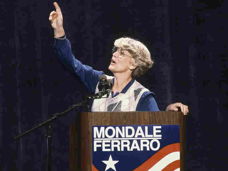 Geraldine Ferraro, seen here in 1984, was the first woman to run for U.S. vice president on a major party ticket.