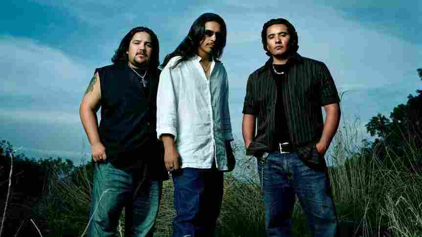 The men of Los Lonely Boys (right to left): Ringo, Henry and Jojo Garza.