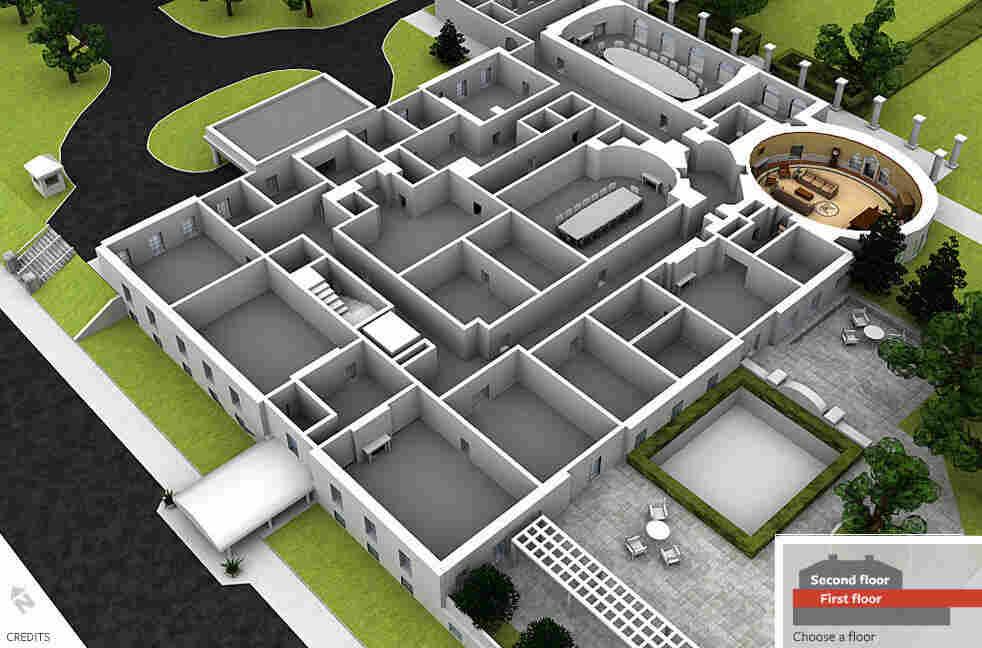 Screenshot of National Journal's interactive West Wing cutaway view.